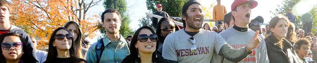 Wesleyan fans cheering