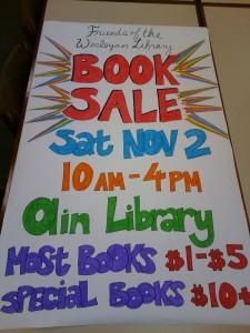 Book sale banner  fall 2013 made by Joy